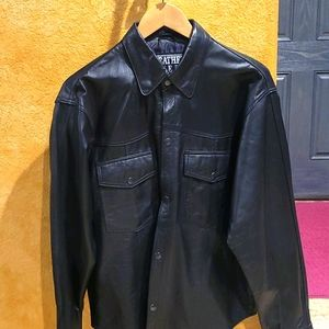 Light weight new leather sheen jacket